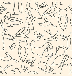 Seamless pattern made of birds vector