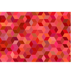 3d cube mosaic background design in red tones vector