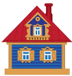 A toy house vector image