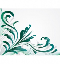 abstract background with green plants vector image