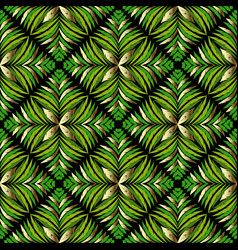 abstract ferns leaves seamless pattern foliage vector image