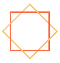 Abstract geometric element created using square vector