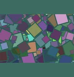Abstract square with lines generative art vector