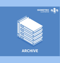 archive icon isometric template for web design vector image