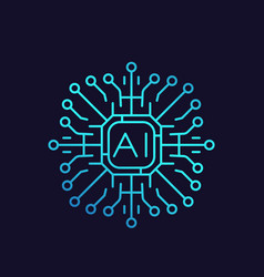 artificial intelligence ai icon vector image