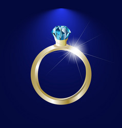 Background with gold ring gem image vector