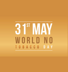 Banner of world no tobacco day collection vector