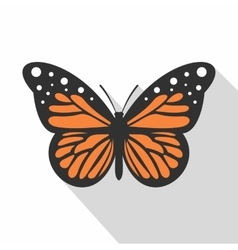 Big butterfly icon flat style vector