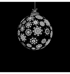 Black and White Christmas ball EPS8 vector image
