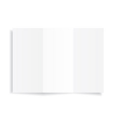 blank a4 sheet white paper with shadow vector image