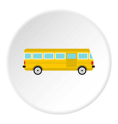 Bus icon circle vector