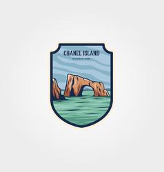 chanel island national park logo patch design vector image