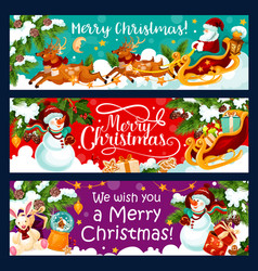 Christmas winter holidays greeting banners vector