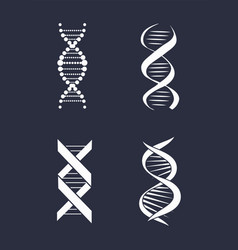 collection dna deoxyribonucleic acid chain logo vector image