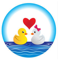 cute duck cartoon vector image