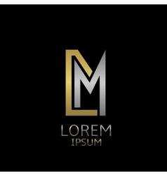 DM letters logo vector image