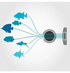 Fish a guitar vector