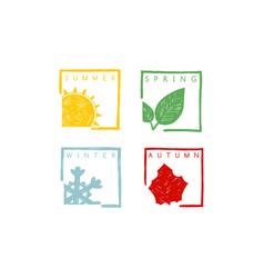 four seasons year vector image