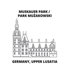 germany lusatia park muzakowski line icon vector image