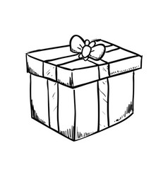 Gift Box Draw Vector