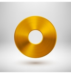 Gold Abstract Donut Button Template vector