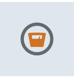 Gray-orange Scales Round Icon vector image