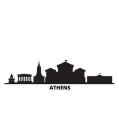 Greece athens city skyline isolated vector