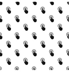 hand cursor click pattern seamless vector image