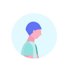 hipster man profile avatar isolated male cartoon vector image