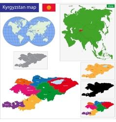 Kyrgyzstan map vector