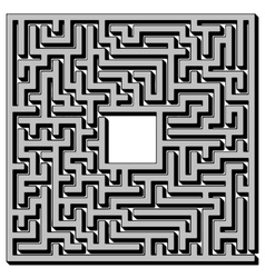 Labyrinth Isolated on White Background vector image vector image