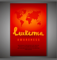 leukemia awareness poster vector image