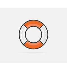 Lifebuoy can be used as Logo or Icon vector