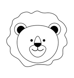 Lion or stuffed cute animal icon image vector