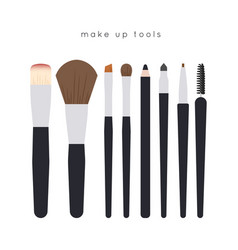 make up tools vector image