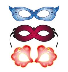Masquerade party masks vector