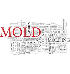 Mold word cloud concept vector