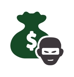 Money bag thief design vector