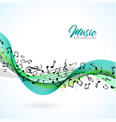 Music with falling notes vector
