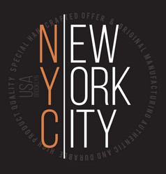 New york brooklyn modern typography for t-shirt vector