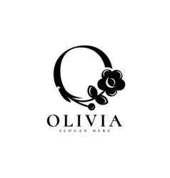 Olivia logo design template vector