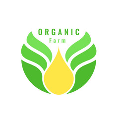 Organic farm logo template vector