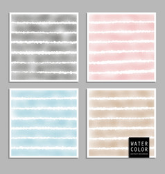 pattern design set with watercolor light vector image