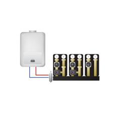 piping condensate boiler vector image