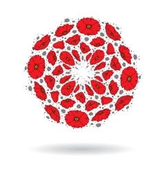 Poppy circle vector