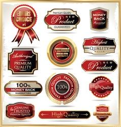 Premium quality labels vector