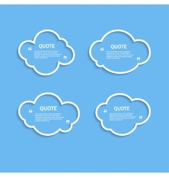 Quote outline cloud set vector