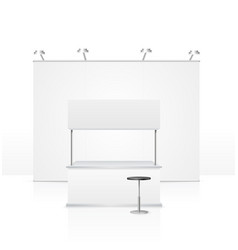 realistic detailed 3d blank empty stand vector image