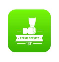 Renovation service icon green vector