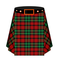 scottish tartan kiltthe men s skirt for the scots vector image